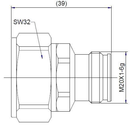 Adaptor Low PIM 7/16 (DIN) Male to 4.3/10 (Mini DIN) Female