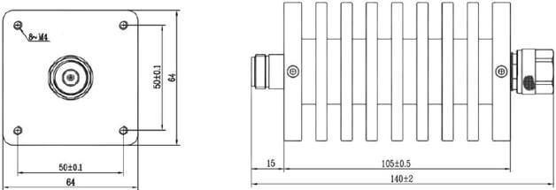 Attenuator N Male to N Female 100W 18GHz 3dB