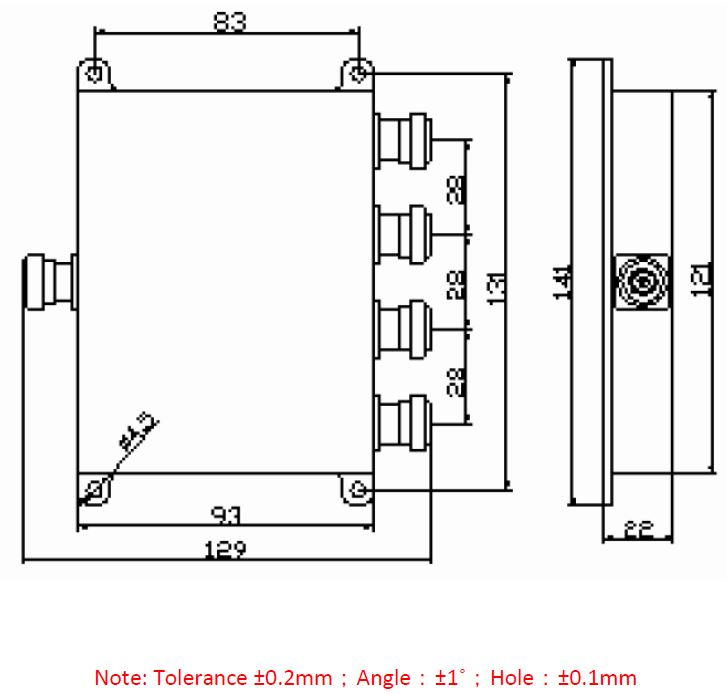 Power Divider 4 way