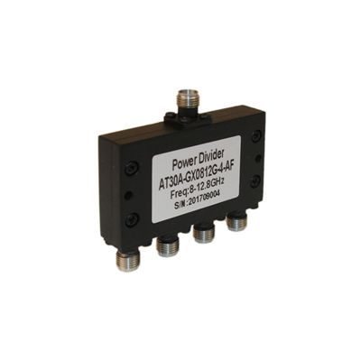 Power Divider 4 Way, SMA Type Female 20W, 8 to 12.8GHz