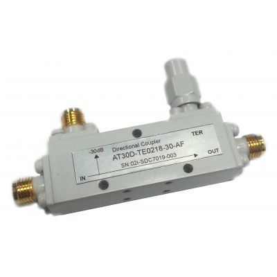 RF Coaxial Directional Coupler, 2-18GHz, 30dB, SMA F