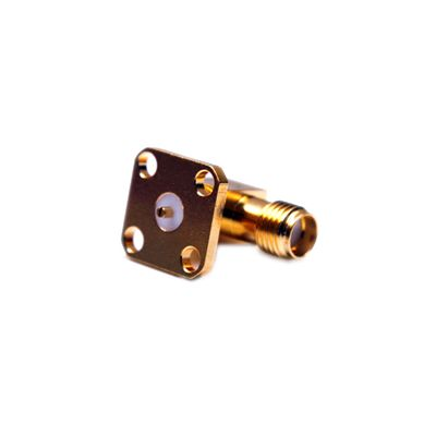 SMA Female, Right Angle, Flange Mount, Slotted Contact